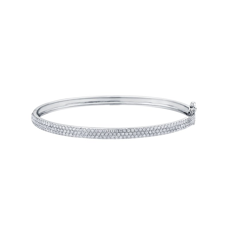 Maple Leaf Diamonds Pave Diamond Bangle