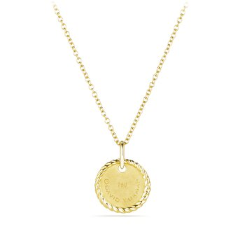 """""N"""" Pendant with Diamonds in Gold on Chain"