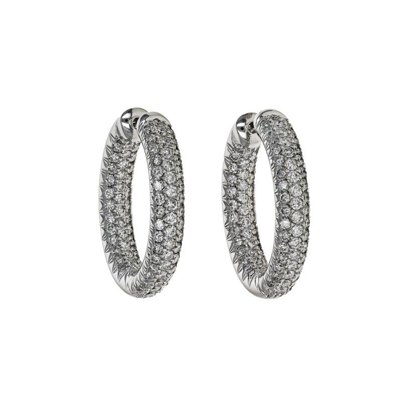 Estate Radcliffe Diamond Inside Out Hoop Earrings