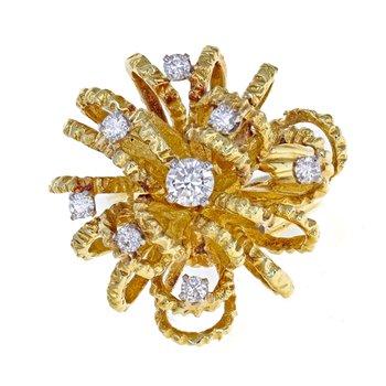 Diamond Urchin Cluster Ring