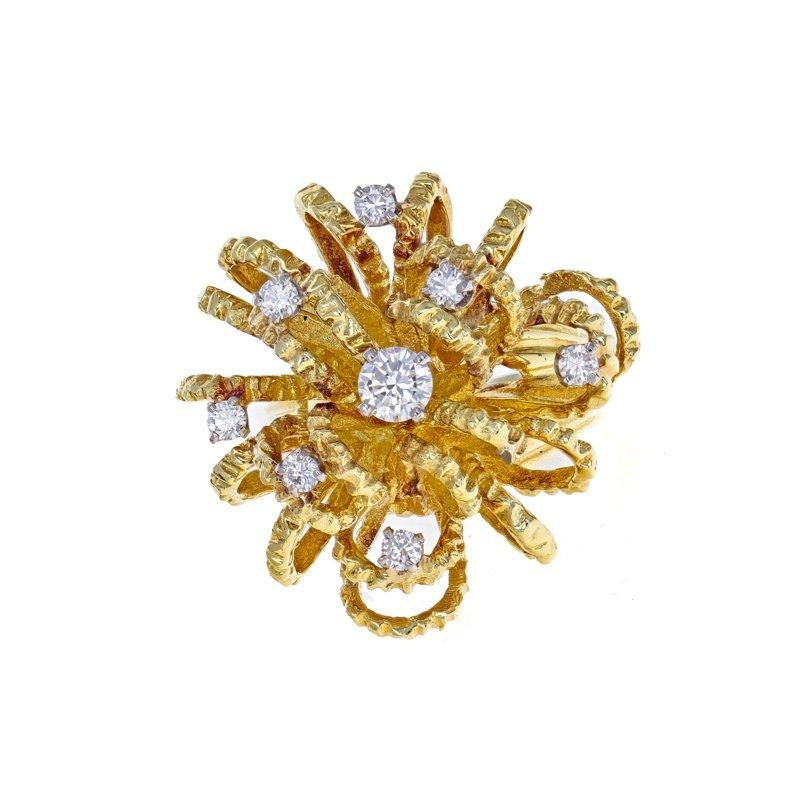 Estate Radcliffe Diamond Urchin Cluster Ring