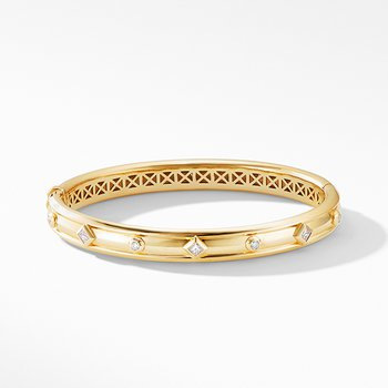 Modern Renaissance Bracelet in 18K Yellow Gold with Diamonds