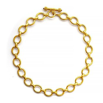 """Smooth Link Necklace-17"""""""
