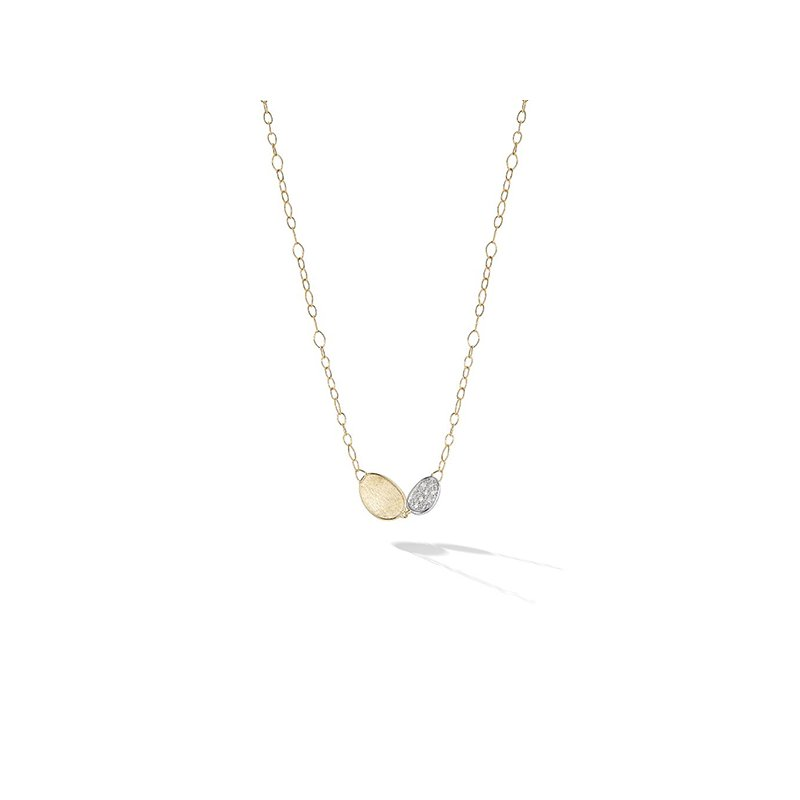 Marco Bicego Lunaria Collection Petite Double Leaf Necklace