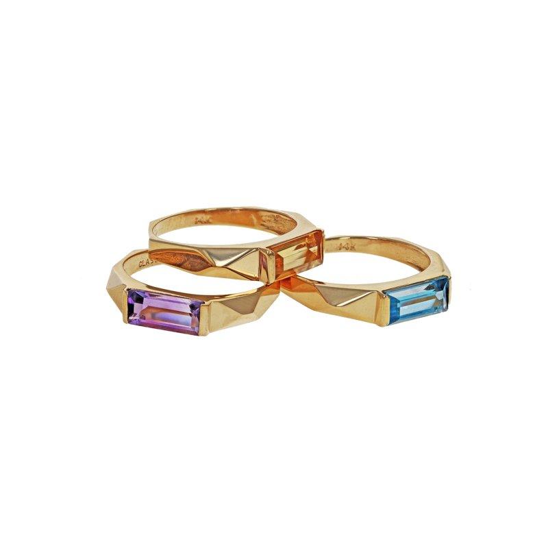Estate Radcliffe Multicolor Gemstone Ring Set