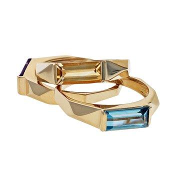 Multicolor Gemstone Ring Set