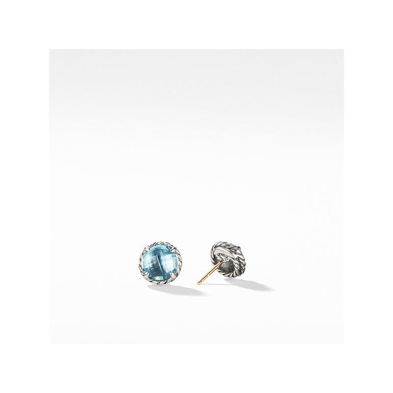 David Yurman Earrings with Blue Topaz