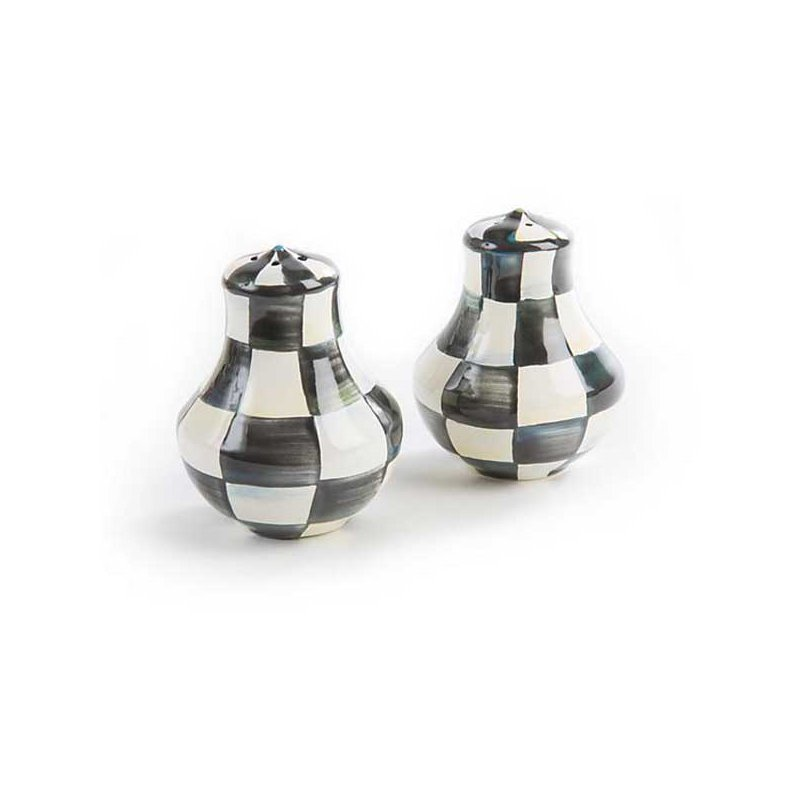 Mackenzie-Childs Courtly Check Enamel Salt & Pepper Shakers