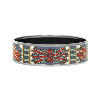 Wide Rubans De Cheval Bangle