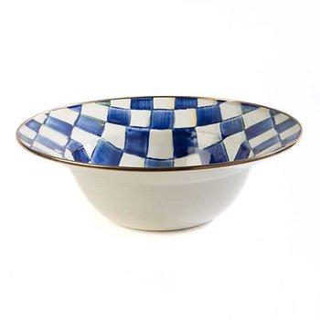 Royal Check Enamel Bowl