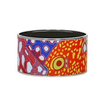 Extra Wide Abstract Fish Bangle
