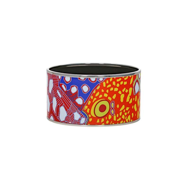 Hermes Extra Wide Abstract Fish Bangle