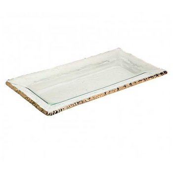 Edgey Rectangular Tray Gold