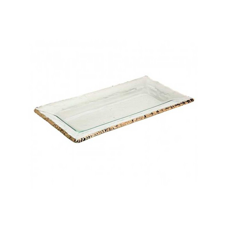 Annieglass Edgey Rectangular Tray Gold