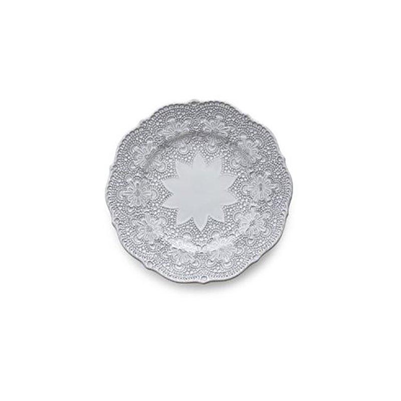 Arte Italica Merletto White Salad Plate