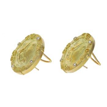 Diamond Athena Earrings