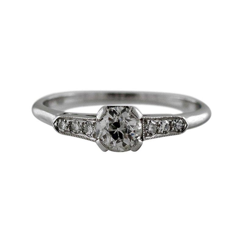 Estate Radcliffe Antique Platinum Diamond Ring