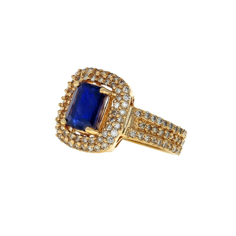 Estate Radcliffe Sapphire & Diamond Halo Ring