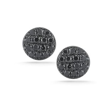 Lauren Joy Black Diamond Mini Disc Studs