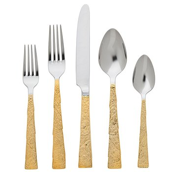 Slate Gold-Plated 5 Piece Place Setting