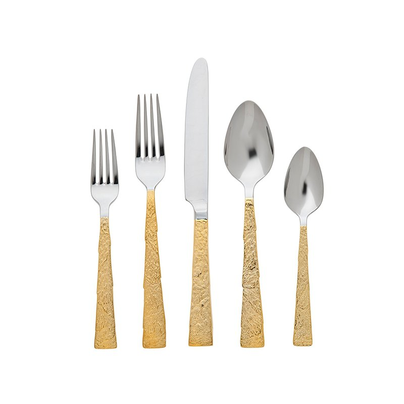 Ricci Argentieri Slate Gold-Plated 5 Piece Place Setting