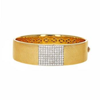 Diamond Cross-Hatch Texture Bangle