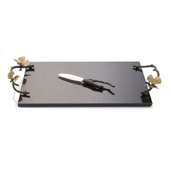 Butterfly Ginkgo Cheese Board with Knife