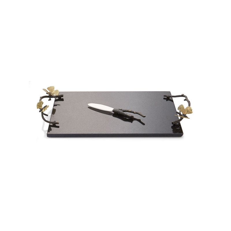 Michael Aram Butterfly Ginkgo Cheese Board with Knife