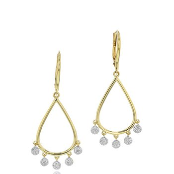 Infinity Pear Dangle Earrings