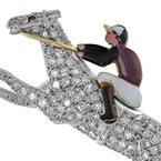 Estate Radcliffe Diamond Horse & Jockey Brooch