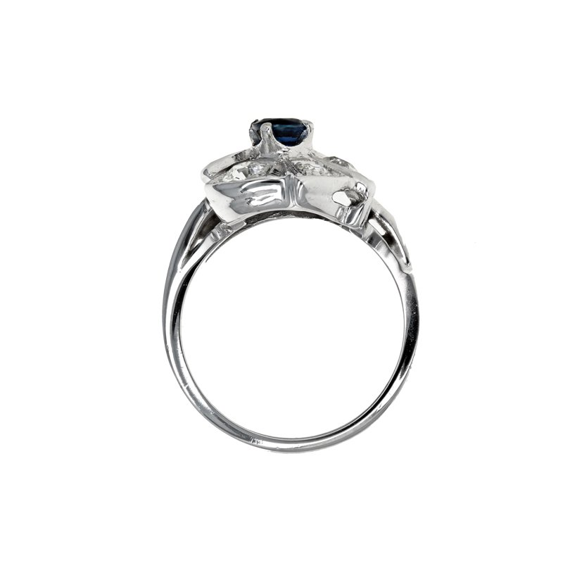 Estate Radcliffe Diamond & Sapphire Flower Ring