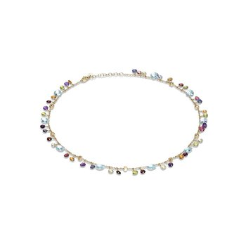 Paradise Collection Blue Topaz and Mixed Gemstone Necklace