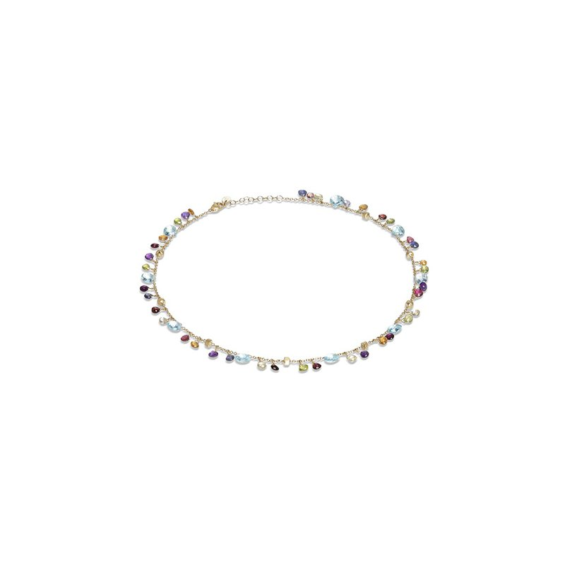 Marco Bicego Paradise Collection Blue Topaz and Mixed Gemstone Necklace