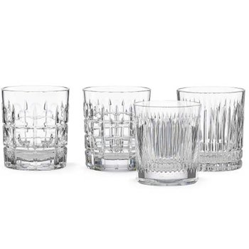 New Vintage 4-Piece Double Old Fashion Glass Set