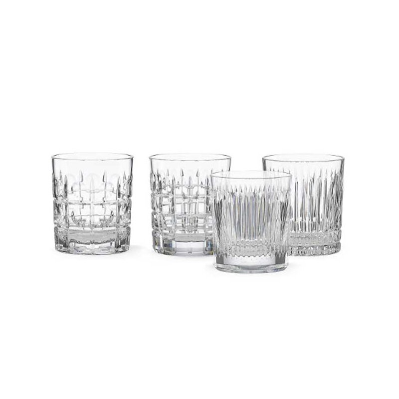 Reed & Barton New Vintage 4-Piece Double Old Fashion Glass Set