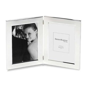 Classic Silverplate 5x7 Double Photo Frame