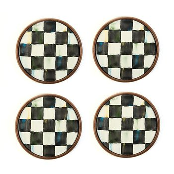 Courtly Check Coasters-Set of 4