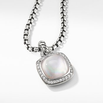Albion Pendant with Rock Crystal and Diamonds