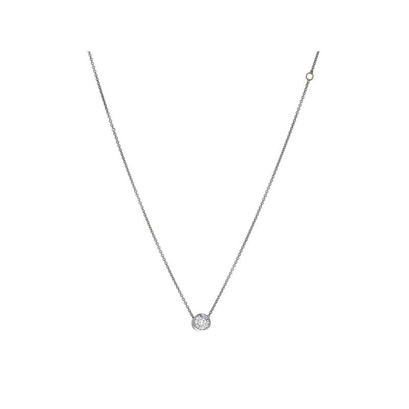 Estate Radcliffe Solitaire Diamond Pendant Necklace
