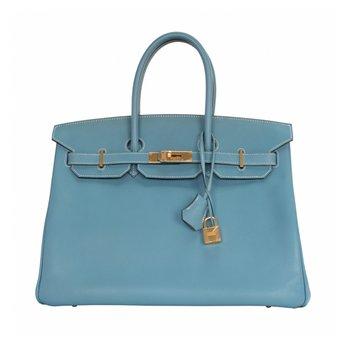 35cm Blue Jean Birkin Bag