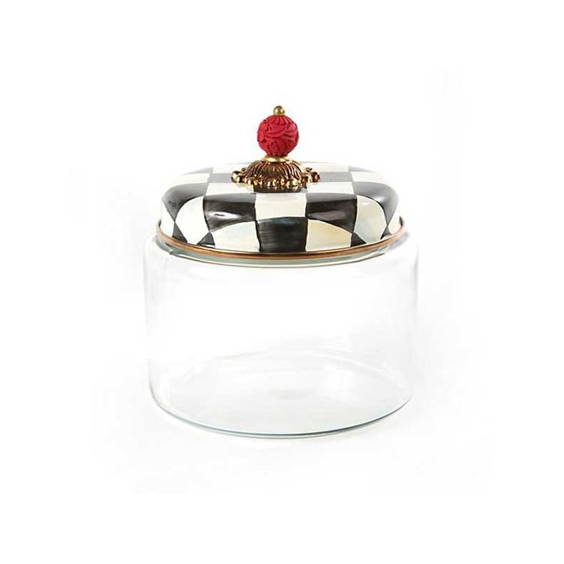 Mackenzie-Childs Courtly Check Kitchen Canister-Medium