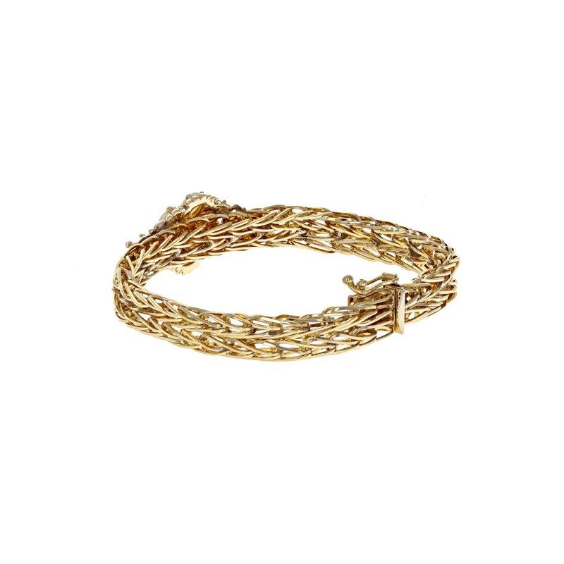 Estate Radcliffe Woven Opal Flower Bracelet