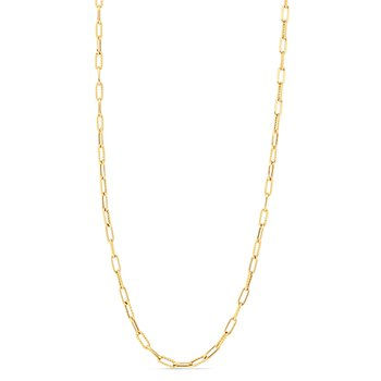 """34"""" Paperclip Chain Necklace"""