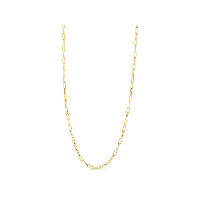 """Roberto Coin 34"""" Paperclip Chain Necklace"""