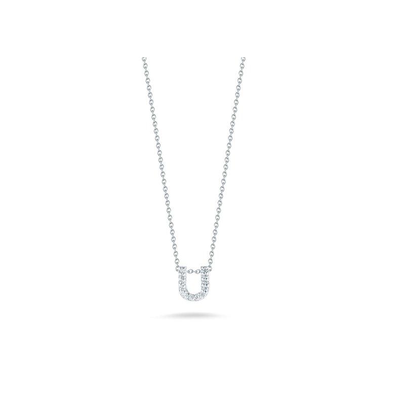 "Roberto Coin Diamond ""U"" Pendant"