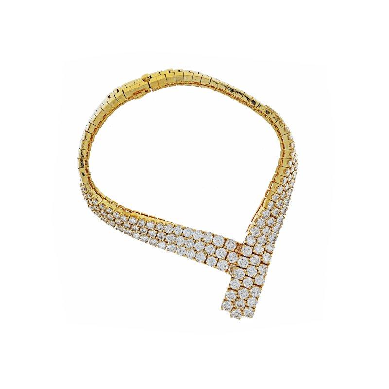 "Estate Radcliffe Diamond ""V"" Mesh Bracelet"