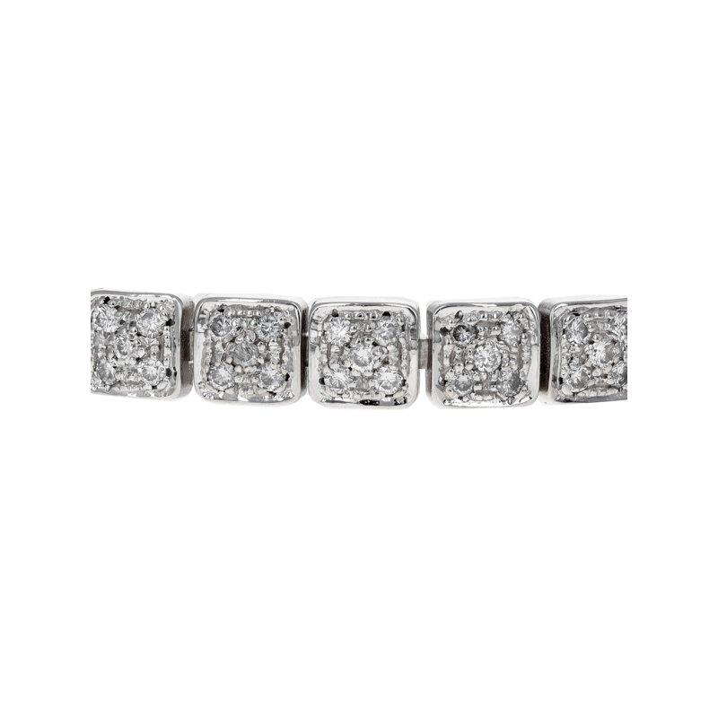Estate Chimento Diamond Square Link Bracelet