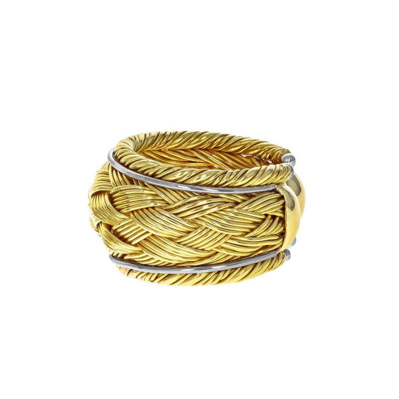 Estate Radcliffe Woven Open Ring
