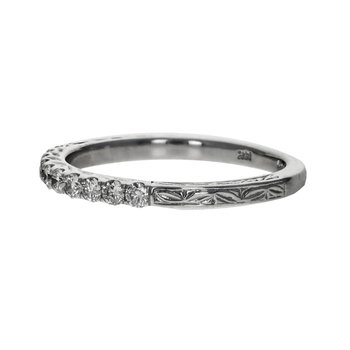 Art Carved Diamond Band