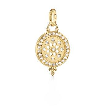 Diamond Mandala Cutout Pendant